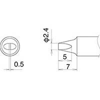 【CAINZ DASH】白光 こて先 2.4D型