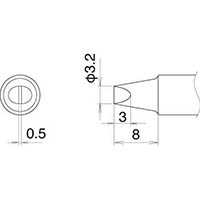 【CAINZ DASH】白光 こて先 3.2D型