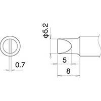 【CAINZ DASH】白光 こて先 5.2D型