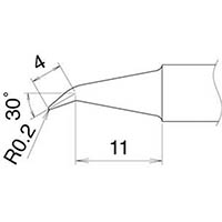 【CAINZ DASH】白光 こて先 0.2J型