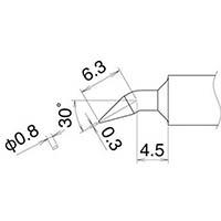 【CAINZ DASH】白光 こて先 0.8JD型