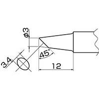 【CAINZ DASH】白光 こて先 3BC型