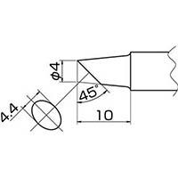 【CAINZ DASH】白光 こて先 4BC型