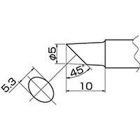 【CAINZ DASH】白光 こて先 5C型