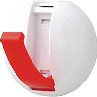 【CAINZ DASH】オート 収納式マグネットフック 2.5Kg 赤(2個パック)