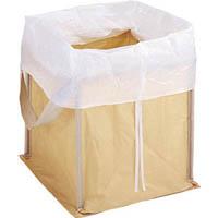 【CAINZ DASH】TRUSCO 回収袋 自立型タイプ 450L 白カバー付