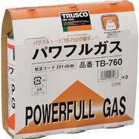 【CAINZ-DASH】TRUSCO パワフルガス240g 3本パック TB760
