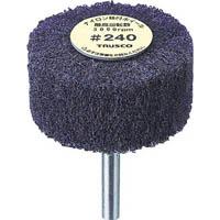 【CAINZ DASH】TRUSCO ナイロン軸付ホイール 外径100X厚25X軸6 240♯(5個入)
