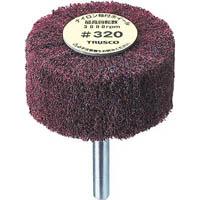 【CAINZ DASH】TRUSCO ナイロン軸付ホイール 外径100X厚25X軸6 320♯(5個入)