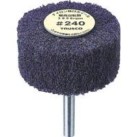 【CAINZ DASH】TRUSCO ナイロン軸付ホイール 外径80X厚25X軸6 240♯ (5個入)
