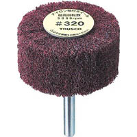 【CAINZ DASH】TRUSCO ナイロン軸付ホイール 外径80X厚25X軸6 320♯ (5個入)