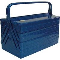 【CAINZ DASH】TRUSCO 3段式工具箱 412X220X343 ブルー