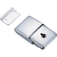 【CAINZ DASH】TRUSCO パッチン錠 鍵付タイプ・スチール製 (4個入)