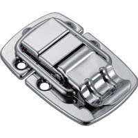 【CAINZ DASH】TRUSCO パッチン錠 横ズレ防止タイプ・スチール製 (2個入)