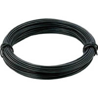 【CAINZ DASH】TRUSCO カラー針金 小巻タイプ・20番手 黒 線径0.9mm