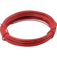 【CAINZ DASH】TRUSCO カラー針金 小巻タイプ・20番手 赤 線径0.9mm