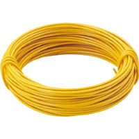 【CAINZ DASH】TRUSCO カラー針金 小巻タイプ・20番手 黄 線径0.9mm