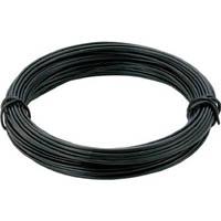 【CAINZ DASH】TRUSCO カラー針金 小巻タイプ・18番手 黒 線径1.2mm