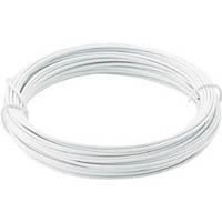 【CAINZ DASH】TRUSCO カラー針金 小巻タイプ・18番手 白 線径1.2mm