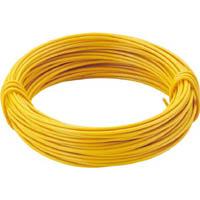 【CAINZ DASH】TRUSCO カラー針金 小巻タイプ・18番手 黄 線径1.2mm