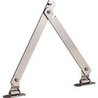 【CAINZ DASH】TRUSCO スチール製止付き平棒ステー 全長450mm 右用