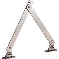 【CAINZ DASH】TRUSCO スチール製止付き平棒ステー 全長300mm 右用