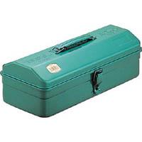 【CAINZ DASH】TRUSCO 山型工具箱 373X164X124 グリーン