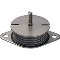 【CAINZ DASH】Taica 防振材 インシュレーター プレート(ゴム被覆)鉄 30〜75kg