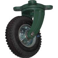 【CAINZ DASH】TRUSCO 鋼鉄製運搬車用空気タイヤ 鋳物金具自在Φ223(2.50−4)