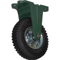 【CAINZ DASH】TRUSCO 鋼鉄製運搬車用空気タイヤ 鋳物金具固定Φ223(2.50−4)