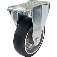【CAINZ DASH】ユーエイ 新型プレスキャスター固定車 200径アルミホイルゴム車輪