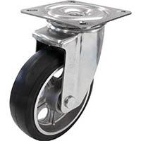 【CAINZ DASH】ユーエイ 新型プレスキャスター自在車 200径アルミホイルゴム車輪