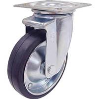 【CAINZ DASH】ユーエイ 新型プレスキャスター自在車 200径ゴム車輪