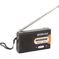 【CAINZ DASH】ナカバヤシ 水電池付 AM/FMラジオ