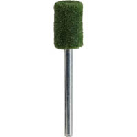 【CAINZ DASH】TRUSCO フェルトミニホイール 平型 Φ10 研磨用 緑色  (10個入)