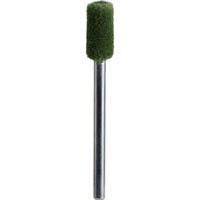 【CAINZ DASH】TRUSCO フェルトミニホイール 平型 Φ6 研磨用 緑色  (10個入)
