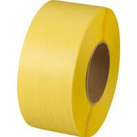 【CAINZ DASH】TRUSCO 自動梱包器用PPバンド幅15.5mmX長さ2500m 黄