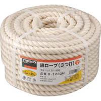 【CAINZ DASH】TRUSCO 綿ロープ 3つ打 線径12mmX長さ30m