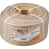 【CAINZ DASH】TRUSCO 麻ロープ 3つ打 線径12mmX長さ30m