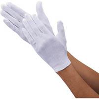 【CAINZ DASH】TRUSCO 品質管理用スムス手袋マチ有L寸 エコノミータイプ