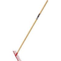 【CAINZ DASH】TRUSCO スチールレーキ 木柄 12本爪