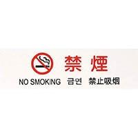 【CAINZ DASH】光 多国語プレート 禁煙