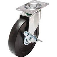 【CAINZ DASH】ユーエイ キャスターS付自在車 径125ハードゴム車輪