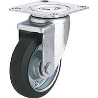 【CAINZ DASH】ユーエイ 産業用キャスター自在車 100径ゴム車輪