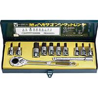 【CAINZ DASH】ASH ソケットレンチ用ヘキサゴンソケットセット12.7□