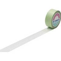 【CAINZ DASH】緑十字 ラインテープ(ガードテープ) 白 50mm幅×20m 屋内用