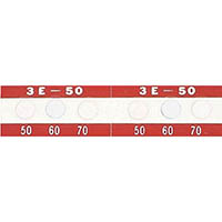 【CAINZ DASH】日油技研 サーモラベル3点表示屋外対応型 不可逆性 50度(1箱20枚入)