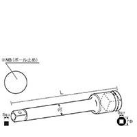 【CAINZ DASH】ナック エクステンションバー 差込角12.7x100L