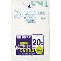 【CAINZ DASH】サニパック 容量表記入り白半透明ゴミ袋90L (1袋(PK)=10枚入)