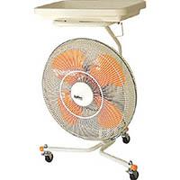 【CAINZ PRO】スイデン キャスター扇(送風機フロアファン)ハネ45cmトレイ付き首振 SKF45S1V